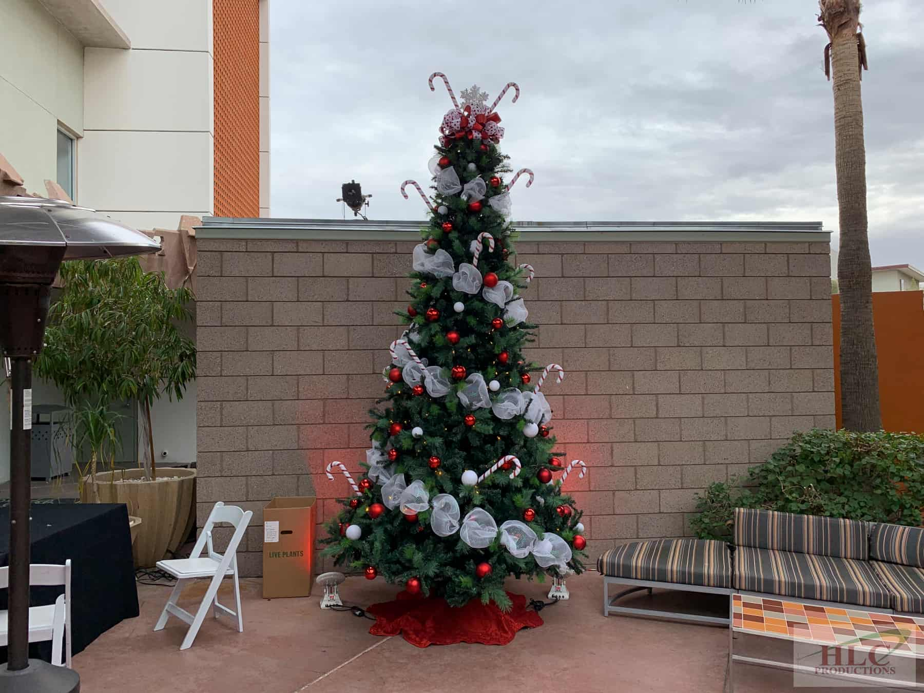 12ft Christmas Tree with Floods